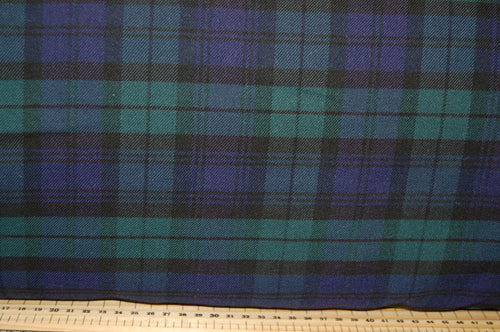 Fabric Shack Sewing Quilting Sew Fat Quarter Cotton Polyester Polycotton Viscose Spandex Tartan Weave Blackwatch Royal Stewart Stretch Dressmaking Fashion