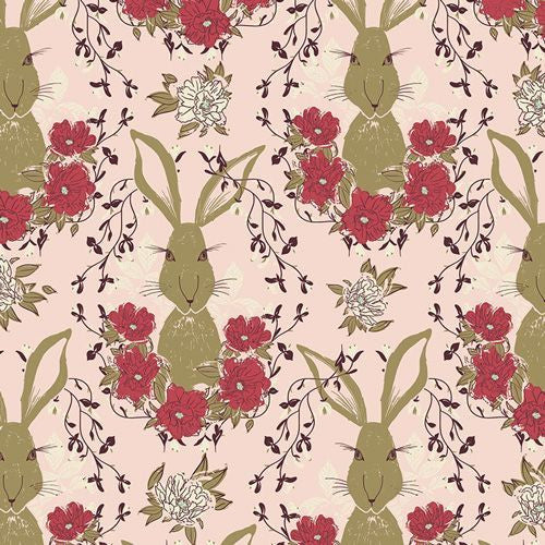 Art Gallery 'Forest Floor in the Thicket Dawn' Rabbit/Hare Pink