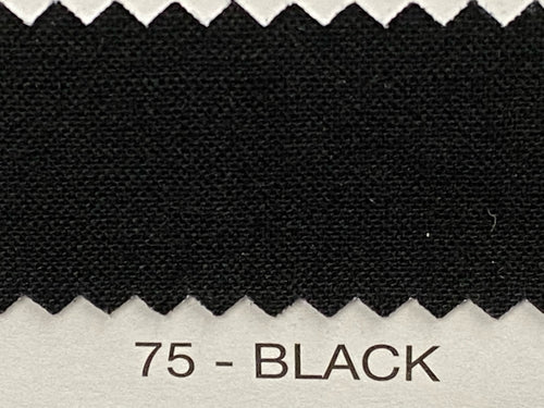 Fabric Shack Sewing Quilting Sew Fat Quarter Cotton Patchwork Dressmaking Plain black 75