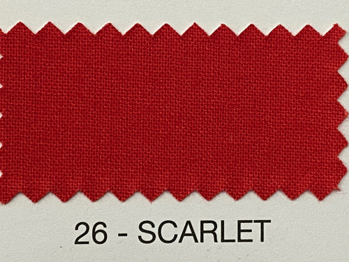 Fabric Shack Sewing Quilting Sew Fat Quarter Cotton Patchwork Dressmaking Plain scarlet 26