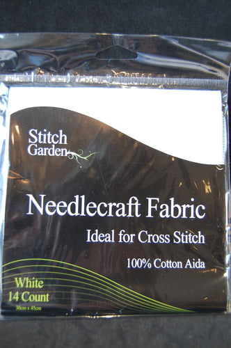 Fabric Shack Sewing Quilting Sew Fat Quarter Cotton Quilt Patchwork Dressmaking Embroidery Aida 14 16 18 Count Canvas Cross Stitch Needlecraft Cotton White