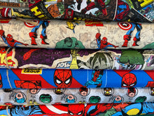 Fabric Shack Sewing Quilting Sew Fat Quarter Cotton Quilt Patchwork Dressmaking Marvel Avengers Thor Spiderman Hulk Captain America Wolverine Iron Man United Comic Characters