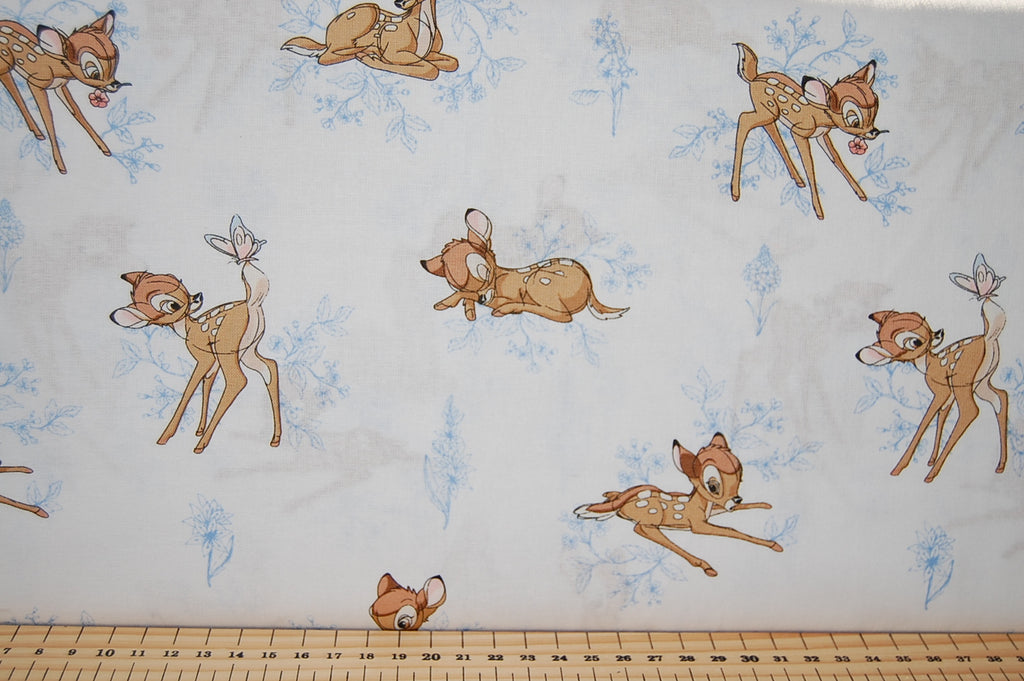 Disney Bambi Blue Detail Fabric Shack Malmesbury