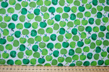 Fabric Shack Fruity Friends Makower Fun Fruit Tropical Smiles Cocktail Summer Party Garden Bunting Panel Pineapple  Apple Applies White Green