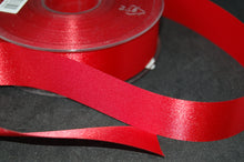 Fabric Shack Fused Edge Satin Ribbon 24mm Gift Wrapping Sewing Crafts Bright Red