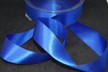 Fabric Shack Fused Edge Satin Ribbon 24mm Gift Wrapping Sewing Crafts Royal Blue