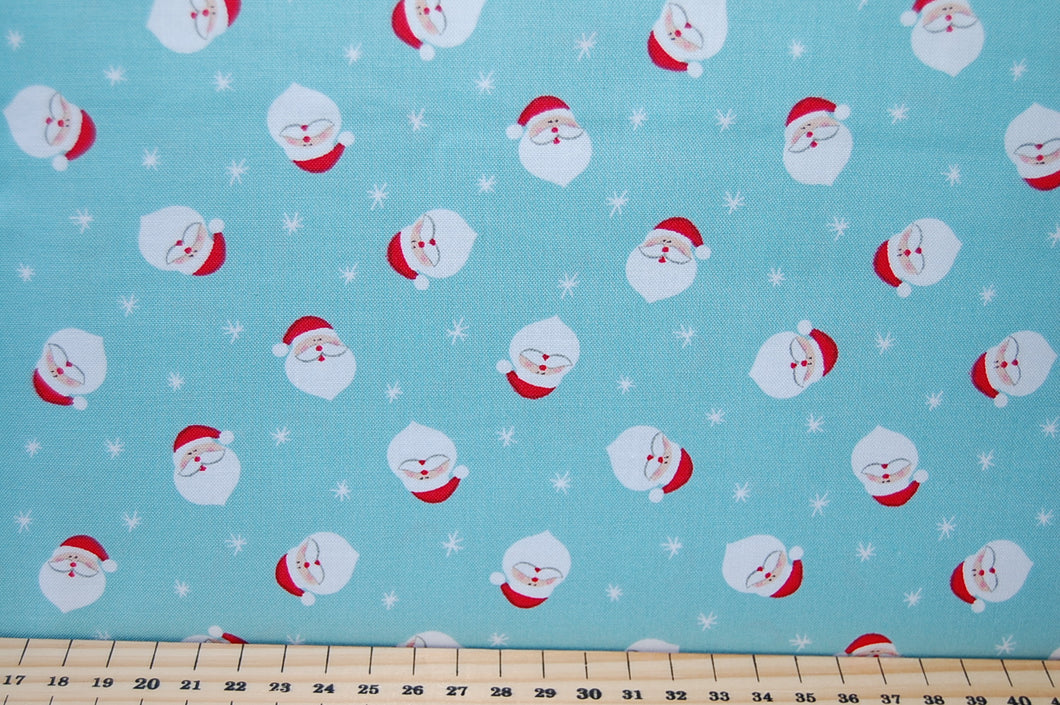 Fabric Shack Henley Studio Makower Novelty Christmas Holiday Cotton Fat Quarter Santa Father Reindeer Bear Penguin Rudolf Jumper Advent Calendar Panel Make Craft Kit 3