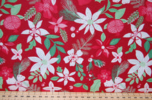Fabric Shack Kate Spain for Moda Merry Merry Christmas Festive Holiday Bird Robin Bauble Flower Amaryllis Rose House Home Green Red White Cotton Fat Quarter Pack 9