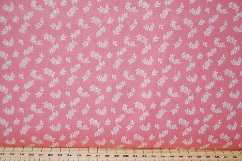 Fabric Shack Liberty English Garden Quilting Cotton Berry Pink Purple Sewing Sew Fat Quarter