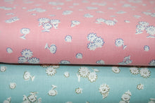 Fabric Shack Liberty English Garden Quilting Cotton Tumbling Daisy Pink Blue Sewing Sew Fat Quarter