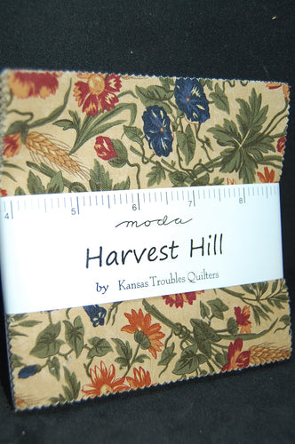 Fabric Shack Moda Harvest Hill 5 Inch Charm Pack Kansas Troubles Quilters Sewing Quilting Sew Quilt Cotton