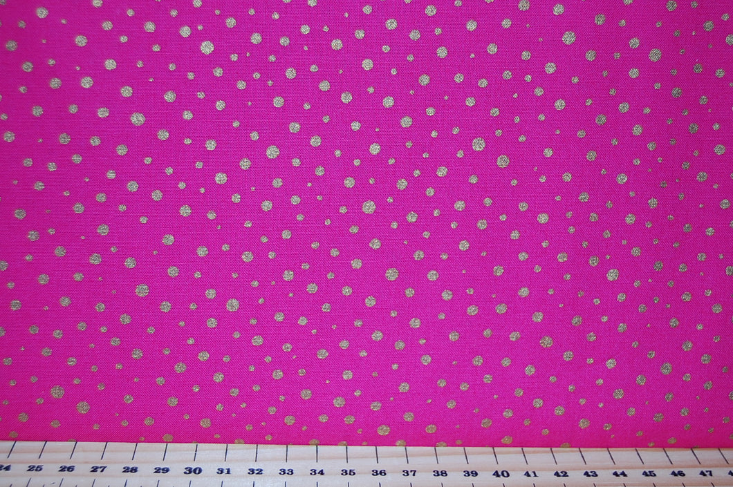 Fabric Shack Moda Modifications Metallic Gold Polka Dots Spots Christmas Festive Cotton Turquoise Blue Green Purple Pink Fat Quarter Pack