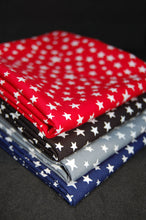 Fabric Shack Moda Modifications Stars Red Black Grey Navy Blue Cotton Fat Quarter