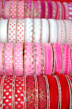 Fabric Shack Red Pink White Ribbon Trim Spot Dot Heart Valentines Ric Rac Velvet Ribbed Stitch