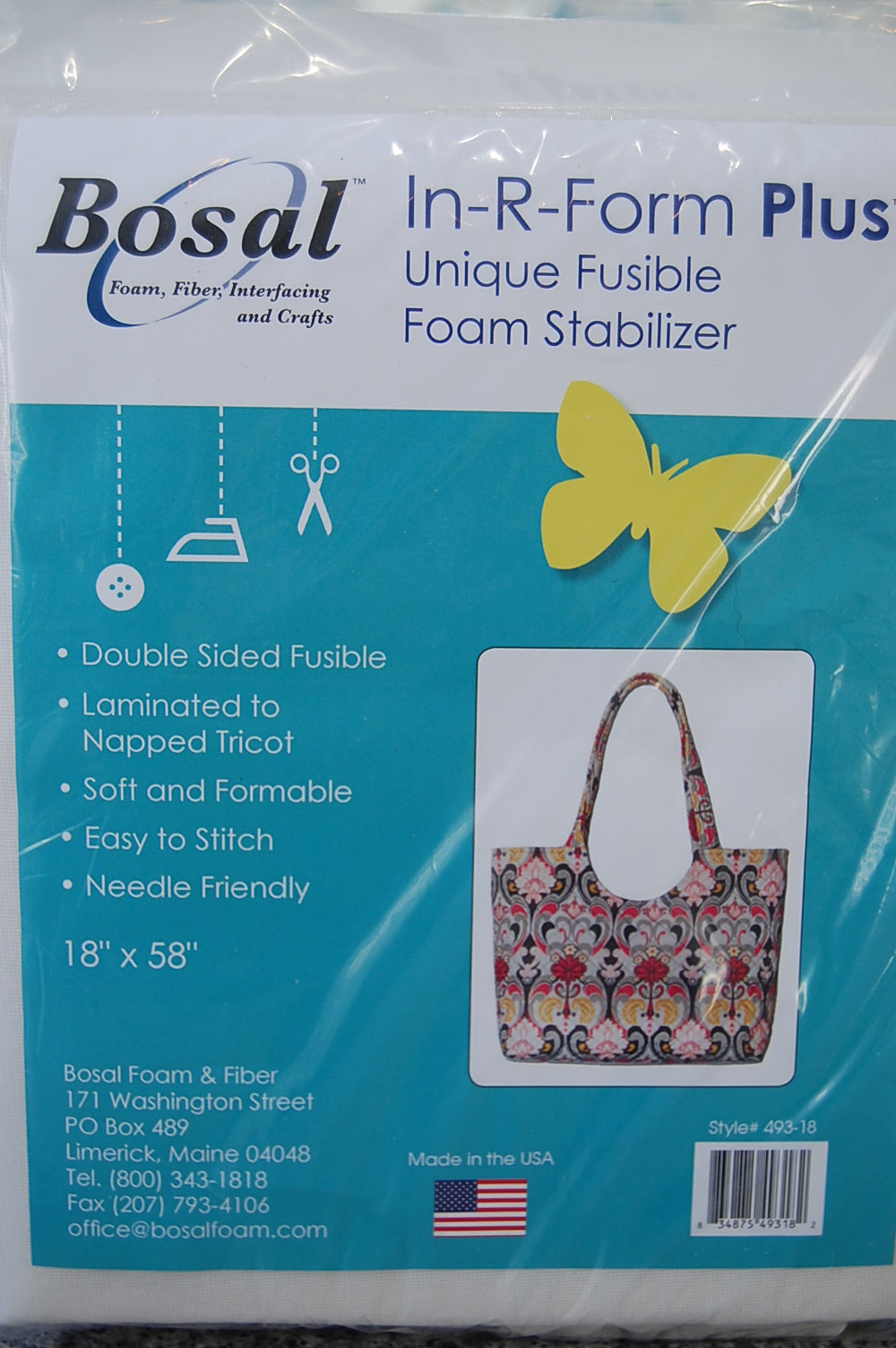 Fabric Shack Sewing Bags Bosal In R Form Plus Double Sided Fusible Foam Interfacing Bag Handbag
