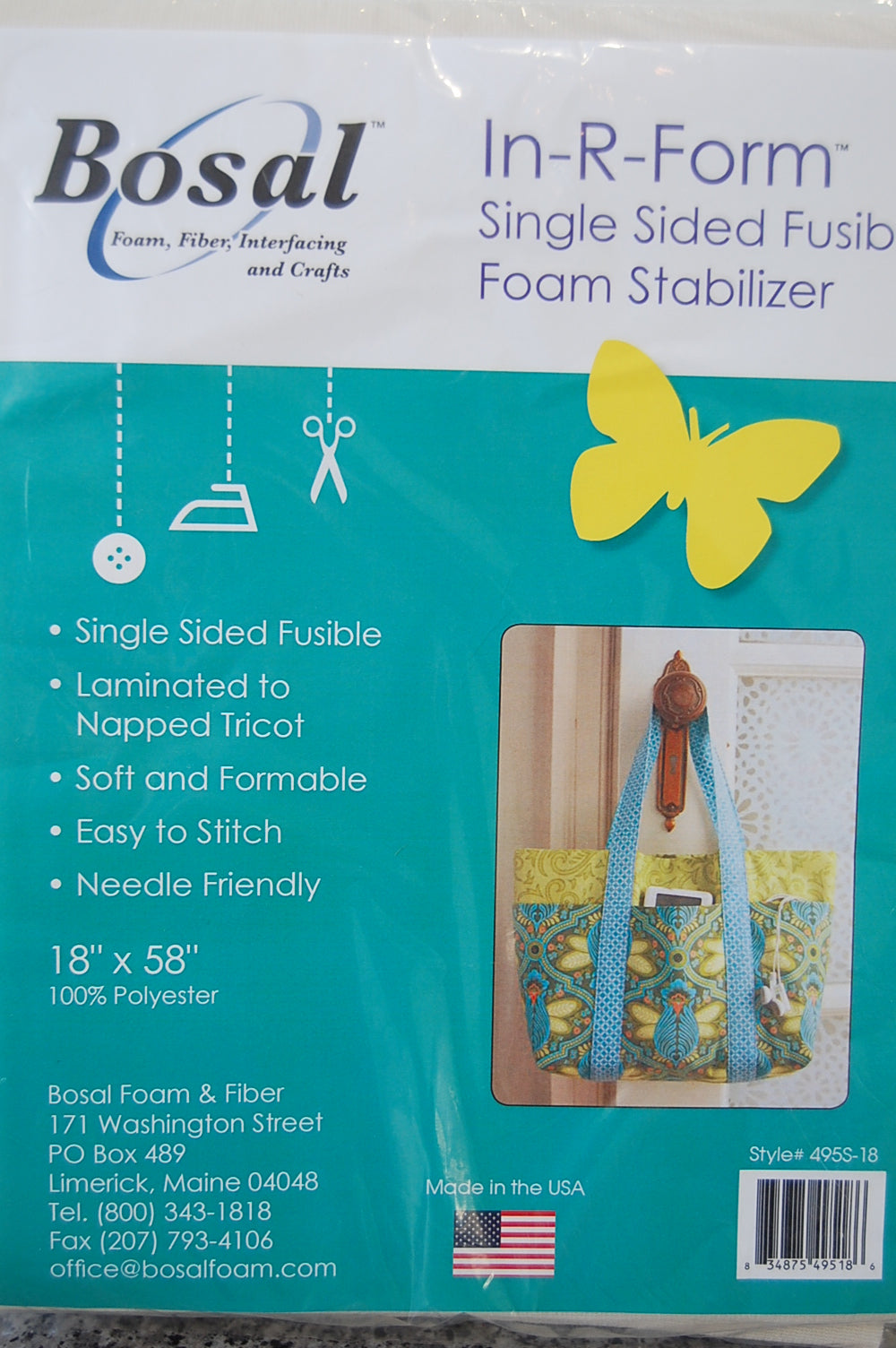 Fabric Shack Sewing Bags Bosal In R Form Plus Single Sided Fusible Foam Interfacing Bag Handbag
