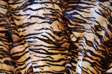 Fabric Shack Sewing Quilitng Sew Fat Quarter Cotton Polyester Quilt Patchwork Dressmaking Faux Fake Fur Velboa Valboa  Tiger Brown White Short Pile