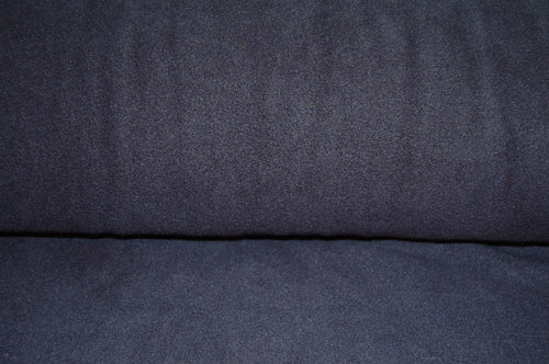 Fabric Shack Sewing Quilting Sew Clothes  Dressmaking Polyester Anti Pil Fleece Plain Navy Dark Blue