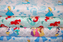 Fabric Shack Sewing Quilting Sew Fat Quarater Cotton Quilt Disney Licenced Licensed Camelot Princess Princesses Little Mermaid Ariel Flounder Alice in Wonderland Roses Snow White Cinderella Marvel Toy Story