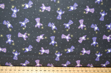 Fabric Shack Sewing Quilting Sew Fat Quarter Cotton Patchwork Dressmaking Lewis Irene Mythical & and Magical Myth Magic Fantasy Wizard Rainbow Fairy Fairies Mermaid Metallic Unicorn Dark Grey