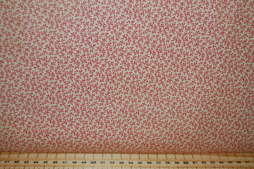 Fabric Shack Sewing Quilting Sew Fat Quarter Cotton Quilt Patchwork Dressmaking 3 Sisters Moda Cinnaberry Christmas Holidays Red Cream Floral Flower Damask (2)