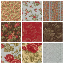 Fabric Shack Sewing Quilting Sew Fat Quarter Cotton Quilt Patchwork Dressmaking 3 Three Sisters Moda Charm Pack Pre-Cut Squares Autumn Leaves Wood Natural Floral Flowers