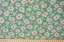Fabric Shack Sewing Quilting Sew Fat Quarter Cotton Quilt Patchwork Dressmaking American Jane Moda Hop Skip & Jump Floral Flowers Green 2