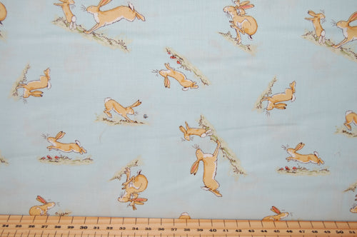 Fabric Shack Sewing Quilting Sew Fat Quarter Cotton Quilt Patchwork Dressmaking Anita Jeram Clothworks Sam McBratney Walker Books Licensed Guess How Much I Love You 2018 Hare Rabbit S