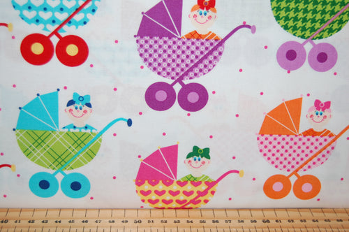 Fabric Shack Sewing Quilting Sew Fat Quarter Cotton Quilt Patchwork Dressmaking Barbara Jones Quiltsoup Henry Glass Cutie Tootie Children Nursery Baby Babies Prams Stroller Nappy Pins Kids Girl Boy Sho