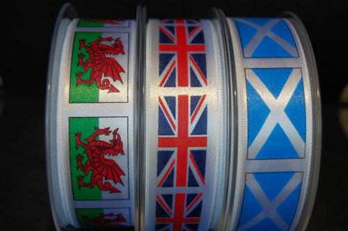 Fabric Shack Sewing Quilting Sew Fat Quarter Cotton Quilt Patchwork Dressmaking Berisfords Satin Ribbon UK Flags Scotland Wales England Union Jack Welsh Dragon St Andrews Cross