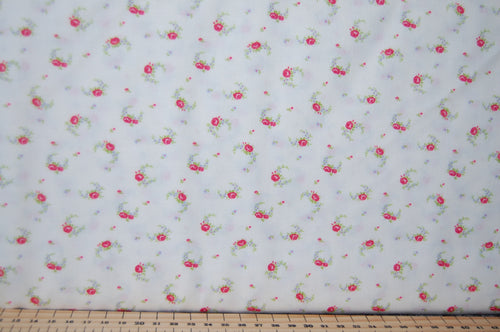 Fabric Shack Sewing Quilting Sew Fat Quarter Cotton Quilt Patchwork Dressmaking Cath Kidson  Classic Floral Flower Guernsey Roses Paisley Pink Blue Cream Large Small 6