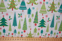Fabric Shack Sewing Quilting Sew Fat Quarter Cotton Quilt Patchwork Dressmaking Christmas Xmas Holidays Trees Forest Red White (2)