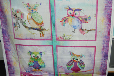 Fabric Shack Sewing Quilting Sew Fat Quarter Cotton Quilt Patchwork Dressmaking Connie Haley 3 Three Wishes Boho Owls Panel Stars Sky Trees (2)