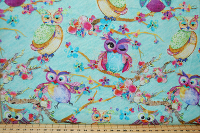 Fabric Shack Sewing Quilting Sew Fat Quarter Cotton Quilt Patchwork Dressmaking Connie Haley 3 Three Wishes Boho Owls Panel Stars Sky Trees (9)