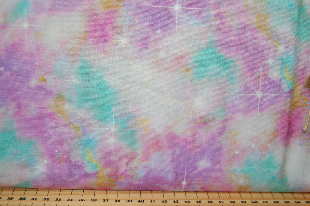 Fabric Shack Sewing Quilting Sew Fat Quarter Cotton Quilt Patchwork Dressmaking Connie Haley 3 Three Wishes Sassy Animals Star Sky Stardust Pink Purple Turquoise