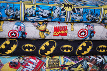 Fabric Shack Sewing Quilting Sew Fat Quarter Cotton Quilt Patchwork Dressmaking DC Comics  Batman Logo Robin Comic Strip (2)