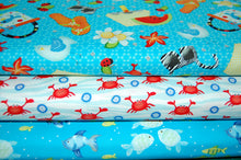 Fabric Shack Sewing Quilting Sew Fat Quarter Cotton Quilt Patchwork Dressmaking Dana Brooks Henry Glass Celebrate Summer Seaside Holiday Sea Fish Flipflops Sunglasses Crabs Bucket Spade Ladybird Flower