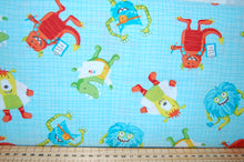 Fabric Shack Sewing Quilting Sew Fat Quarter Cotton Quilt Patchwork Dressmaking Dana Saulnier Patterned Peacock Studio E Monster Lab Quiet Book Height Chart Science Panel (5)