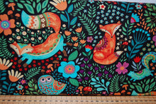 Fabric Shack Sewing Quilting Sew Fat Quarter Cotton Quilt Patchwork Dressmaking Debi Hron Henry Glass Spring Awakens Awakenings Forest Fox Owl Squirrel Folk Art Boho Animals Woodland (2)