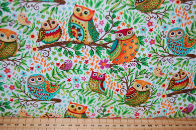 Fabric Shack Sewing Quilting Sew Fat Quarter Cotton Quilt Patchwork Dressmaking Debi Hron Henry Glass Spring Awakens Awakenings Forest Fox Owl Squirrel Folk Art Boho Animals Woodland (5)