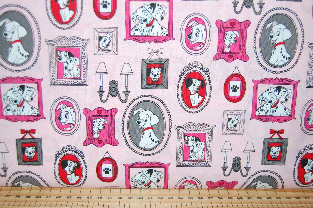 Fabric Shack Sewing Quilting Sew Fat Quarter Cotton Quilt Patchwork Dressmaking Disney 101 Dalmatians Dalmations Dogs Puppies Puppy Pongo Perdy Perdey London Telephone Phone Box Portraits Big Ben Spo (2)