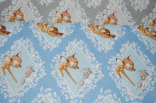 Fabric Shack Sewing Quilting Sew Fat Quarter Cotton Quilt Patchwork Dressmaking Disney Bambi Thumper Blue Grey