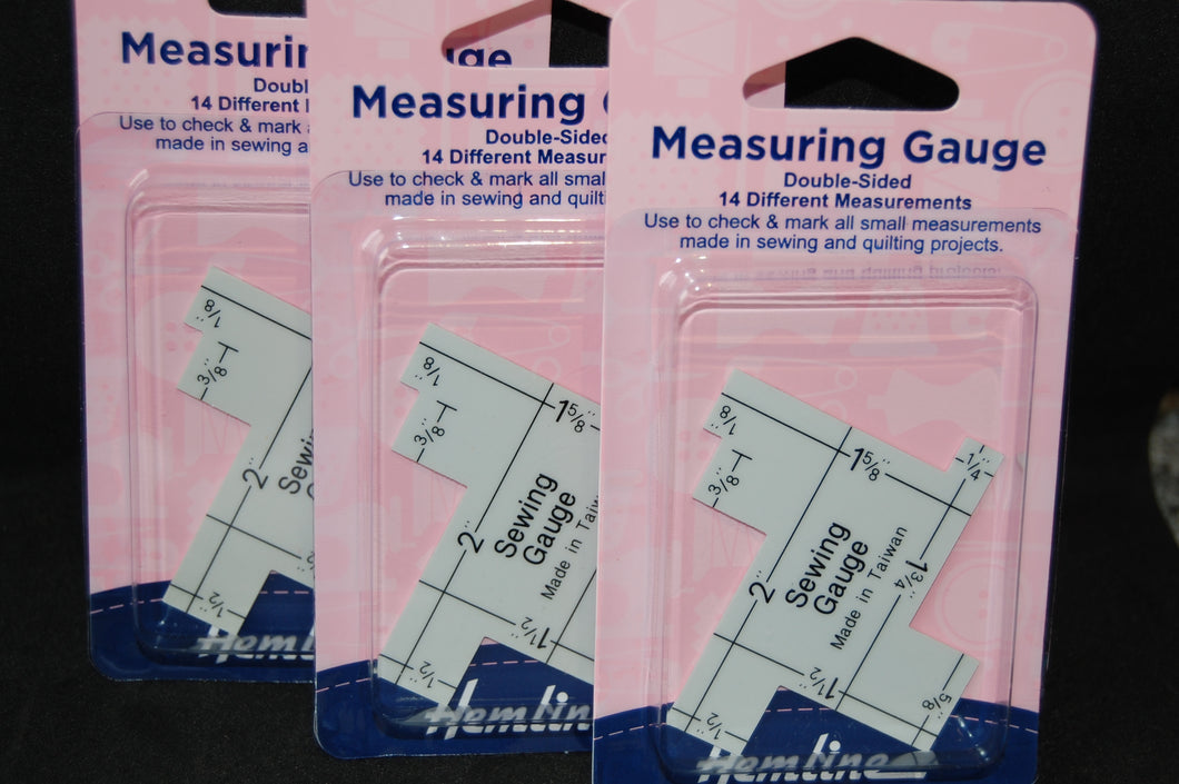 Fabric Shack Sewing Quilting Sew Fat Quarter Cotton Quilt Patchwork Dressmaking Hemline Measuring Gauge Guide Seam Allowance Imperial Inches