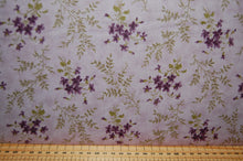 Fabric Shack Sewing Quilting Sew Fat Quarter Cotton Quilt Patchwork Dressmaking Jan Patek Moda Sweet Violet Fern Check Purple Violet Flower Floral (6)