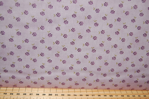 Fabric Shack Sewing Quilting Sew Fat Quarter Cotton Quilt Patchwork Dressmaking Jan Patek Moda Sweet Violet Fern Check Purple Violet Flower Floral Brown Ditsy Lilac Ditsy