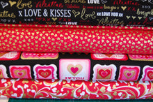 Fabric Shack Sewing Quilting Sew Fat Quarter Cotton Quilt Patchwork Dressmaking Kanvas Studios Benartex Cherish Hearts Metallic Mettallic Metalic Mettalic Valentines XOX Kisses Love You Kiss (4)