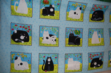 Fabric Shack Sewing Quilting Sew Fat Quarter Cotton Quilt Patchwork Dressmaking Kate Mawdsley Henry Glass Day Dreamers Black White Cats Kittens Mice Mouse Face Kitties Kitty Garden Panel (3)
