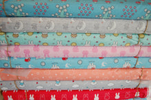 Fabric Shack Sewing Quilting Sew Fat Quarter Cotton Quilt Patchwork Dressmaking Kids Nursery Dick Bruna Miffy Spring Time Bedtime Flowers Pink Blue Mint Pastels Moon Clouds Zzzzzzz Grey