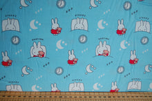 Fabric Shack Sewing Quilting Sew Fat Quarter Cotton Quilt Patchwork Dressmaking Kids Nursery Dick Bruna Miffy Spring Time Bedtime Flowers Pink Blue Mint Pastels Blue Bedtime Sleepy