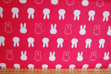Fabric Shack Sewing Quilting Sew Fat Quarter Cotton Quilt Patchwork Dressmaking Kids Nursery Dick Bruna Miffy Spring Time Bedtime Flowers Pink Blue Mint Pastels Silhouette Hot Pink Faces
